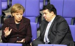 Лидеры ХДС и СДПГ Ангела Меркель и Зигмар Габриель